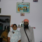 Harpal Singh with his wife