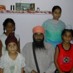 Harpal Singh with his family